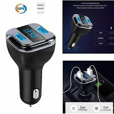 Dual USB Speed Car Charger Real Time GPS Tracker Locator Mobile APP Led Display