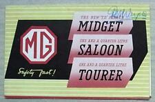 MG CAR RANGE Sales Brochure Dec 1949    MIDGET TD - 1 ¼ Litre Saloon & Tourer