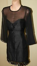 Womens Gorgeous Black Silk Dress - Events - Size 8