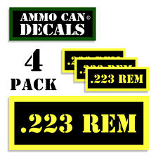 223 REM Ammo Can Label 4x Ammunition Case stickers decals 4 pack YW MINI 1.5in