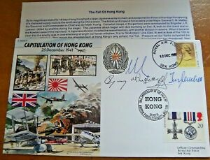 RARE 50th ANNIVERSARY CAPITULATION OF HONG KONG MULTI  SIGNED LTD EDITIOIN COVER