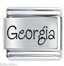 GEORGIA Name - Daisy Charm by JSC Fits Classic Size Italian Charms Bracelet
