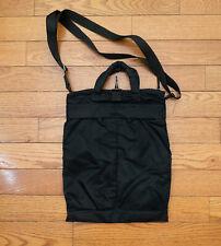Helmut Lang Archive Black Nylon Helmet Bag