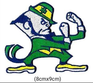 North Dame Leprechaun Fighting Irish Logo Embroidery Iron on Patches