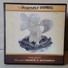Cracker Barrel Cherub Holding A Butterfly Figurine