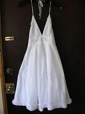 NWT Jcrew polka dot lace mesh tie neck halter v-neck ruffle skirt dress 2 XS