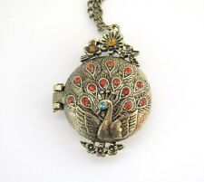 Diamond Copper Coated Peacock Pendant Necklace Buy One Get One Free, Acrylic