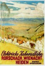 Original vintage poster APPENZELL RORSCHACH RAILWAY LAKE c.1940