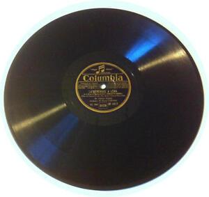 78T LP 78rpm TINO ROSSI la Sérénade à Léna & un violon dans nuit COLUMBIA 1935