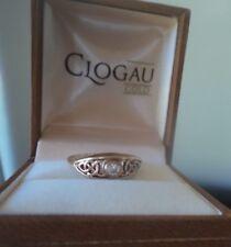 Clogau Welsh 9ct Rose & giallo oro e diamante della regina Eleanor Ring-Taglia O/P