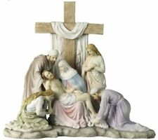 """11.75"""" Jesus Removed From Cross in Calvary Statue Sculpture Figure Christ"""