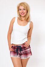 Ex M&S Womens PJ Hot Pants Ladies Nightwear Tartan Check Shorts 12 16 18 20 22