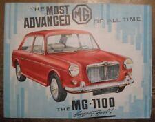 MG 1100 orig 1962 UK Mkt Sales Brochure - BMC BL