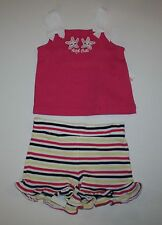 New Gymboree Cape Cod Cutie Starfish Tank Top & Stripe Short Set Size 4T Months