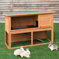 Large Chicken Coop Rabbit Hutch Garden Backyard Wood Hen House Poultry Cage