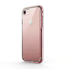 Women iPhone 7 Ice-Case Lite Transparent Clear Protective Cover Bumper Rose Gold