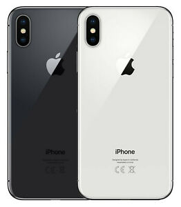 Apple iPhone X - 256 GB - Space Grau - Silber - Gratis Glasfolie!-30 Tage testen