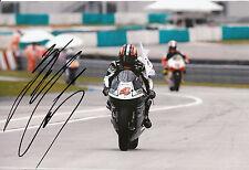 HIROSHI Aoyama mano firmato scozzese RACING HONDA 12x8 FOTO 2009 250cc CHAMPION 1.