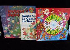 Lot 3 Christmas Hugglys Santa Is Coming To Town Musical Jingle Bells Spin Story