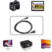 PwrON 5ft Mini HDMI Audio Video TV Cable for Sony CyberShot DSC-HX30 B DSC-HX30V