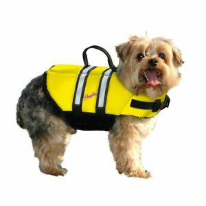 Pawz Pet Products Nylon Dog Life Jacket Small Yellow