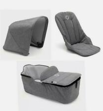 NEW Bugaboo Fox Grey Melange Hood Seat Fabric & Carrycot FABRIC ONLY!