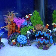 Artificial  Mounted Coral Reef Fish Cave Tank Decor 1PC Aquarium Ornament Best