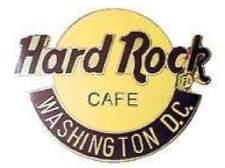Hard Rock Cafe WASHINGTON DC 1990s Large Classic HRC Logo PIN 2LC Grid HR #10389