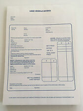 Used Car Vehicle Invoice Pad - 50 sets duplicate NCR sets per pad - pack of 5