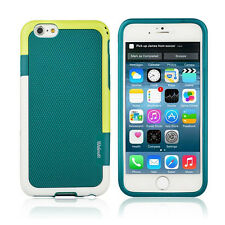 Hybrid Armor Shockproof Slim Case for iPhone 6 and 6s Teal White Green (WI6T)