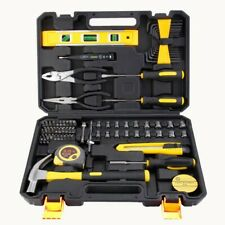 78 Pcs Household Hand Tool Set Wood Working Tools Plastic Toolbox Storage Case H