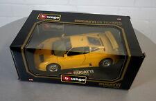 Burago 1/18 Bugatti EB 110 (1991) Gelb - 3045 - Die-Cast Modell Auto NEU in OVP