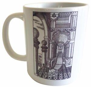 Second Degree Tracing Board - Masonic Ceramic Mug - Ideal Raffle Prize