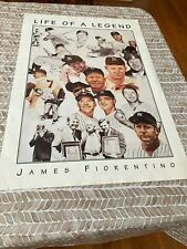 Mickey Mantle Life of A Legend Poster by James Fiorentino 1997 Original 24x36