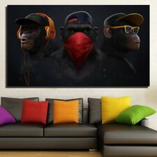 Home Art Wall Decor Animals Oil Painting Swag Monkey HD Print on Canvas 20x35