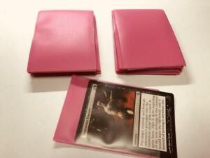 Lenayuyu 100pcs Pink Deck Protector Standard MTG Card Sleeves 66x91mm Glossy