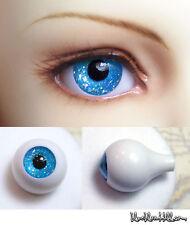 1/3 1/4 1/6 bjd 14mm acrylic doll eyes glitter sea blue full eyeball dollfie