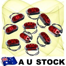 10X Red Side Light LED Marker + Round Chrome base ABS Clearance len Lamp AU Ship