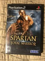 Spartan: Total Warrior (Sony PlayStation 2, 2005) Black Label Complete PS2