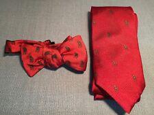 Southern Casanova Co. Italian Silk Neck Tie & Adjustable Bow Tie w/ SC Dog Logo