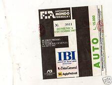 BIGLIETTO TICKET ingresso AUTOMOBILISMO   FORMULA 1  GRAN PREMIO MONZA 6-9-1987