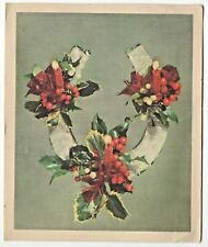 Vintage Christmas Card Horse Shoe, Holly, Candles, Royle Publications England