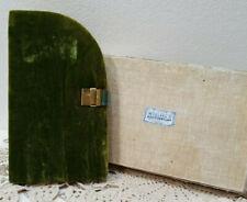 VINTAGE Barbara Bates Manicure Set - Olive Green Velvet Case Ca. 1940s/1950s