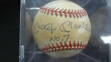 """Mickey Mantle Signed """"No. 7"""" Autographed Baseball UDA Upper Deck"""