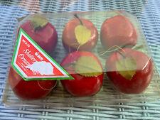 Vintage Red Apples Tree Ornaments Christmas Swan MCB50