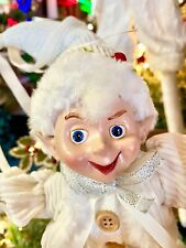 "16"" White & CREAM Posable ELF CHRISTMAS Decoration 3902273 NEW Raz Imports"
