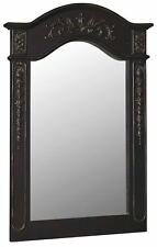 Belle Foret BF80051 Antique BlackTraditional Classic 36-Inch Vanity Mirror