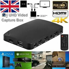 4K HD Game Video Capture Card Device Recorder Box 1080P for XBox One PS3/PS4