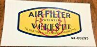 VOKES LTD AIR FILTER PATENTED vinyl transfer BSA Matchless AJS Triumph Panther