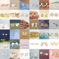 Women's Girl 925 Silver Sterling Earrings Cute Ear Stud Jewelry Gifts Fashion